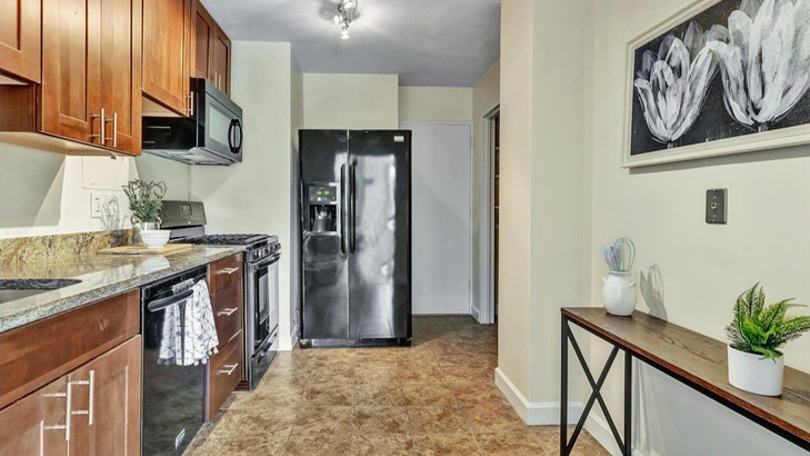 Staged Apartment Kitchen