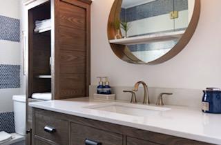Gold Details Bathroom Design