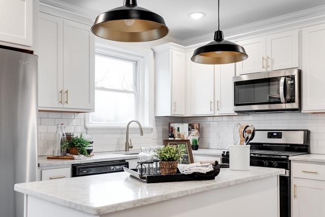 Black and Gold Kitchen Design