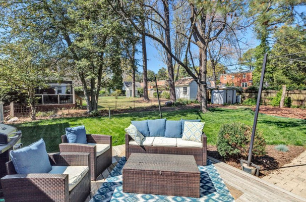 Staged Outdoor Living