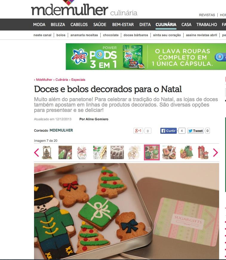 Biscoito Decorado Natal - MdeMulher