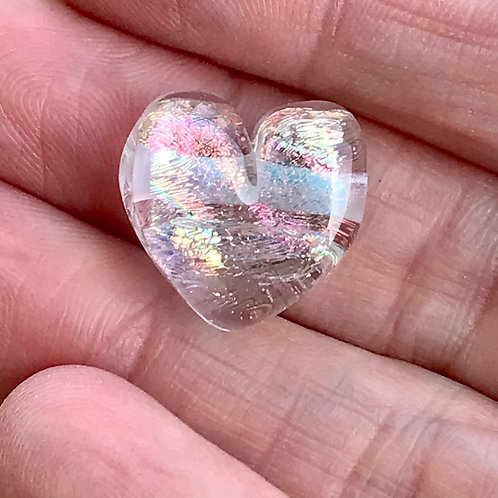 transparent clear glass with multicolored Dichroic glass