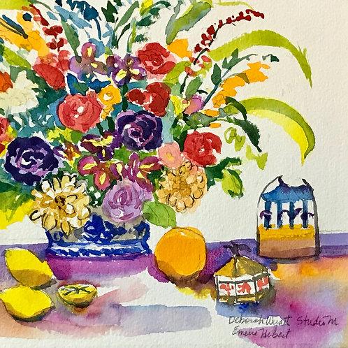 Bouquet with lemons