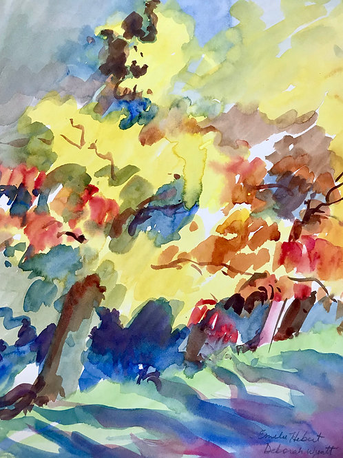 Fall trees 17x14