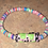 Thumbnail: Fun lampwork and multicolored disc anklet or bracelet