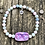 Thumbnail: Butterfly heart strung in aquamarine, kunzite and morganite