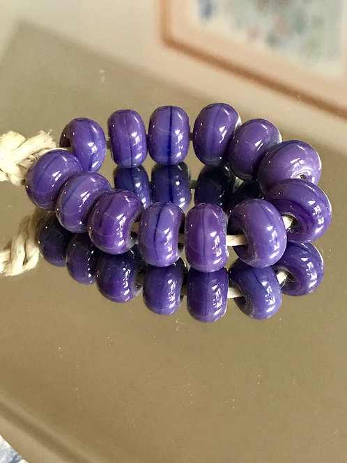 Purple spacer beads