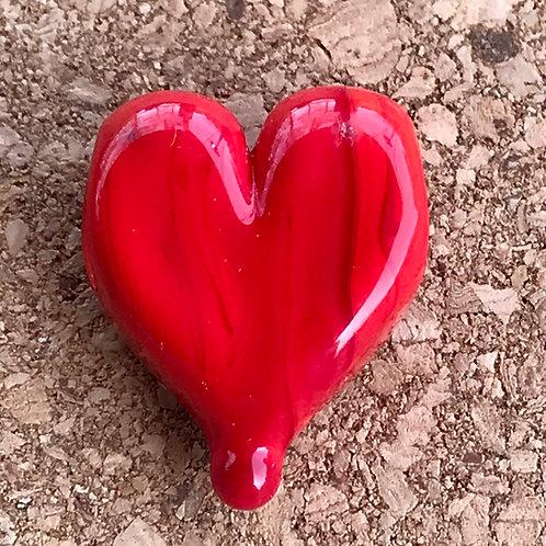 Big hole red heart, horizontal hole