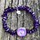 Thumbnail: Amethyst and spiral/peace sign lampwork bead bracelet
