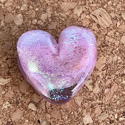 Pink dichroic heart