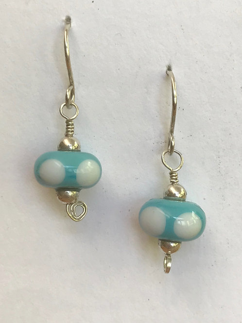 Sterling silver earrings with turquoise beads