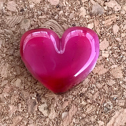 Pink with white core heart, horizontal