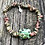 Thumbnail: Unakite  and turtle lampwork bead bracelet