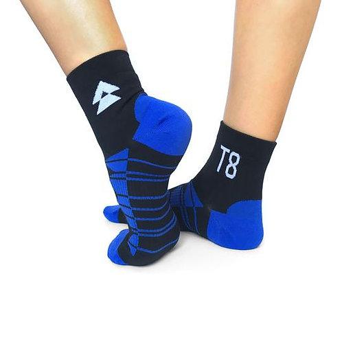 T8 Run Socks Blue 1/2 length
