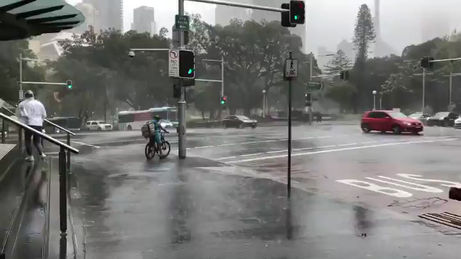 Sydney lashed by wild weather with two months of rain drenching the region in under 48 hours