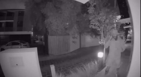 Man falls off Melbourne balcony in attempted burglary fail, caught on CCTV
