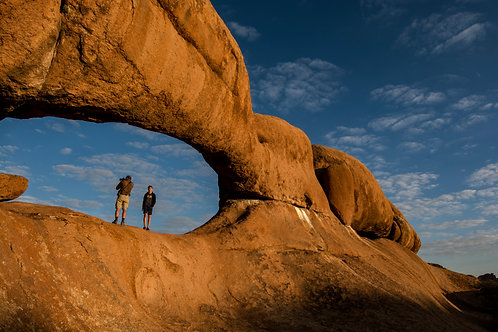 Spitzkoppe Arch with People