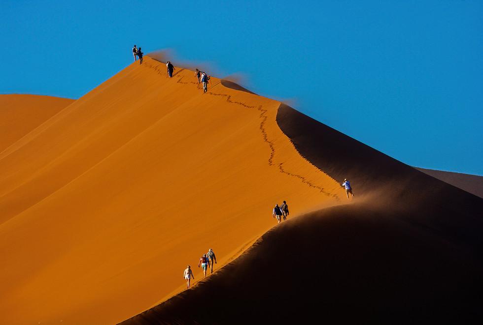 Climbers on Big Daddy Dune