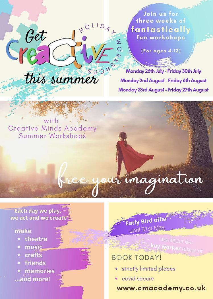 CreActive Holiday Workshops 2021 update.