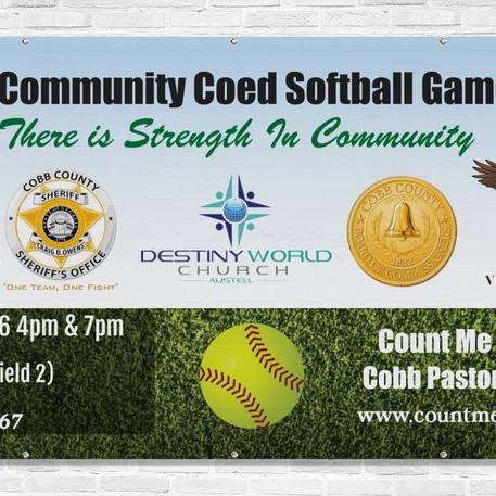Cobb Community Coed Softball Games