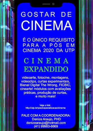 Pós em Cinema: participe da Apresentação on-line