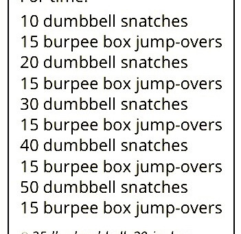 WOD for Friday 210319