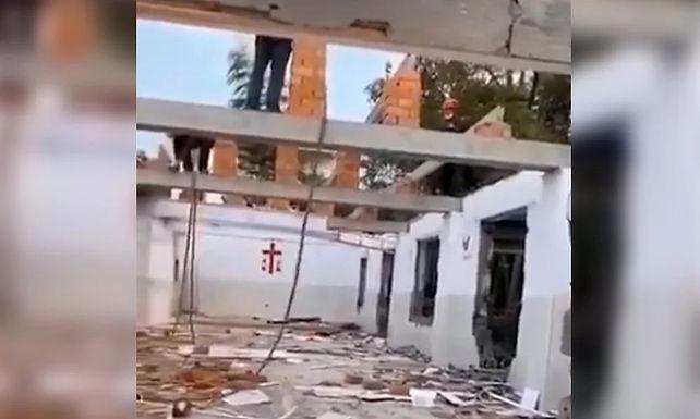 Video mostra partido comunista a aproveitar a pandemia para destruir igrejas cristãs
