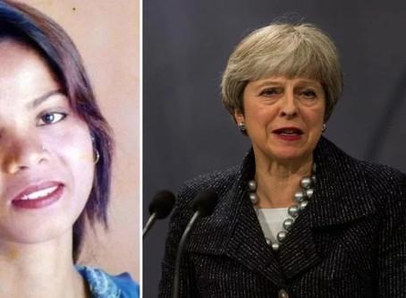 Segurança de Asia Bibi é prioridade para o governo britânico, diz primeira-ministra