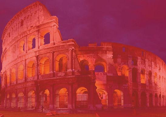 """Coliseu """"Pintado"""" de Vermelho em Homenagem aos Mártires Cristãos"""