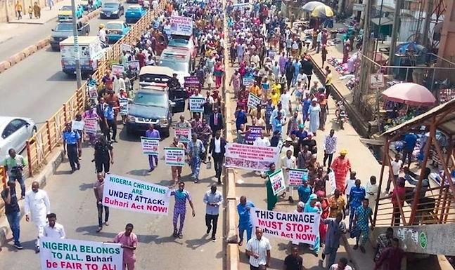 5 milhões de cristãos nigerianos vão às ruas em protesto contra a perseguição