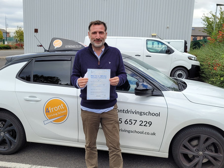Congratulations To Mark - 1st Time Pass