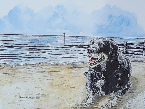 Dog on the Beach- client piece