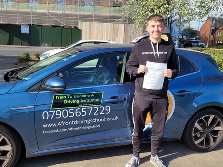 Congratulations to Joe for Passing his Driving Test.