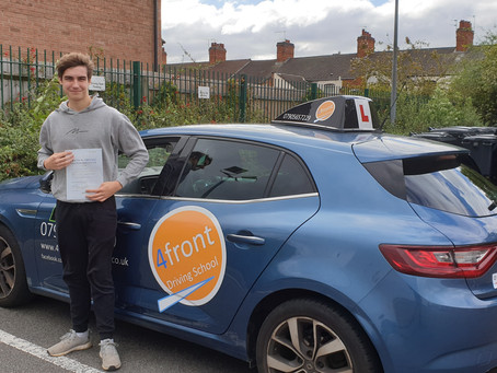 A huge congratulations to Max for passing his driving test