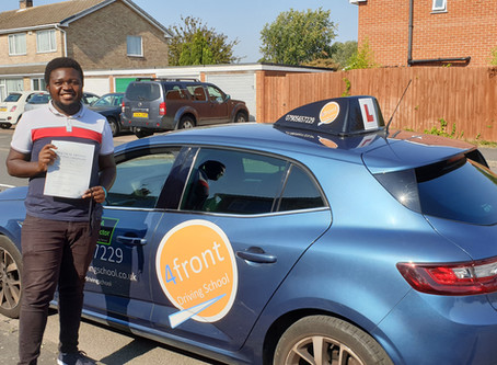 A huge congratulations to Dumisani for passing his driving test first time