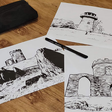 LoughLeigh Arts and Crafts Ink pictures