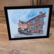 Bespoke watercolour of house