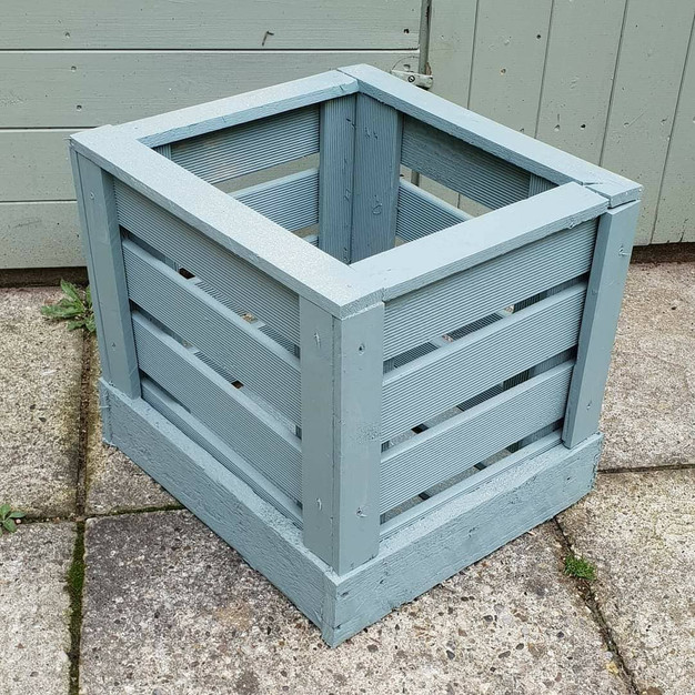 Painted wooden planter