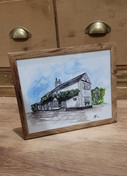 Traditional Cottage - ink and watercolour