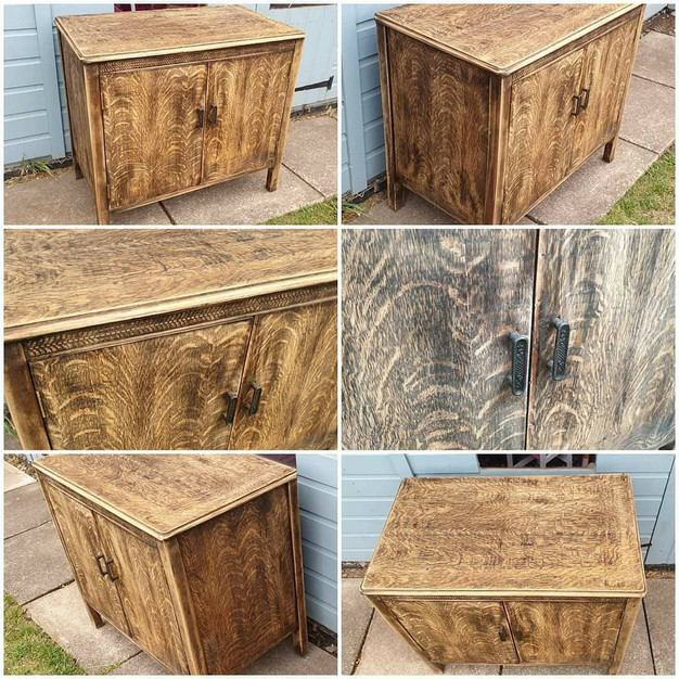 Restored Wooden Cabinet