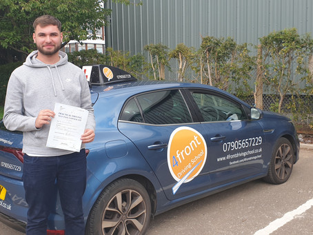 Congratulations To Cam For Passing His Test
