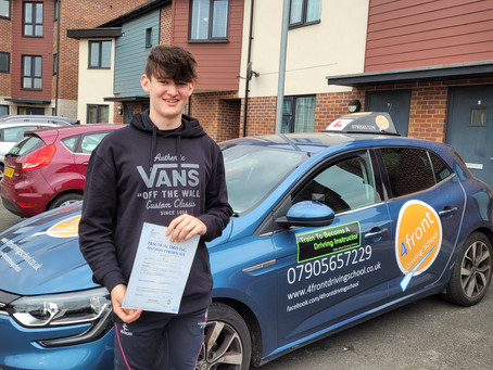 A huge congratulations to Josh for Passing his driving test.