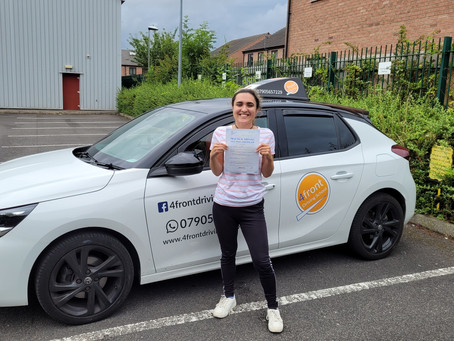 Congratulations Sophie for passing your Driving Test