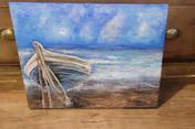 Boat on Sand - Acrylic on Canvas