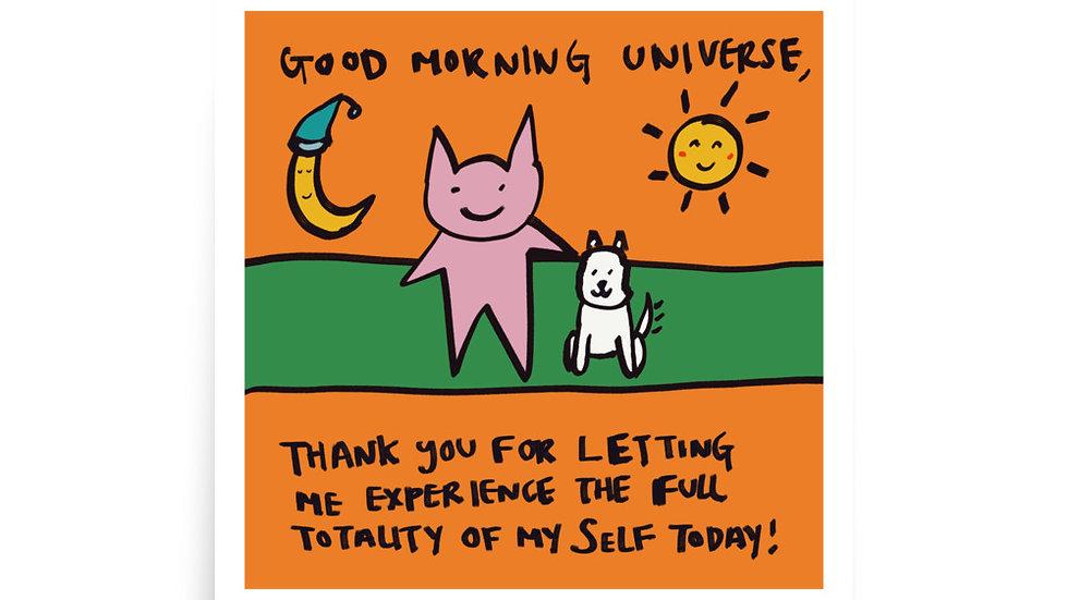 good morning universe print