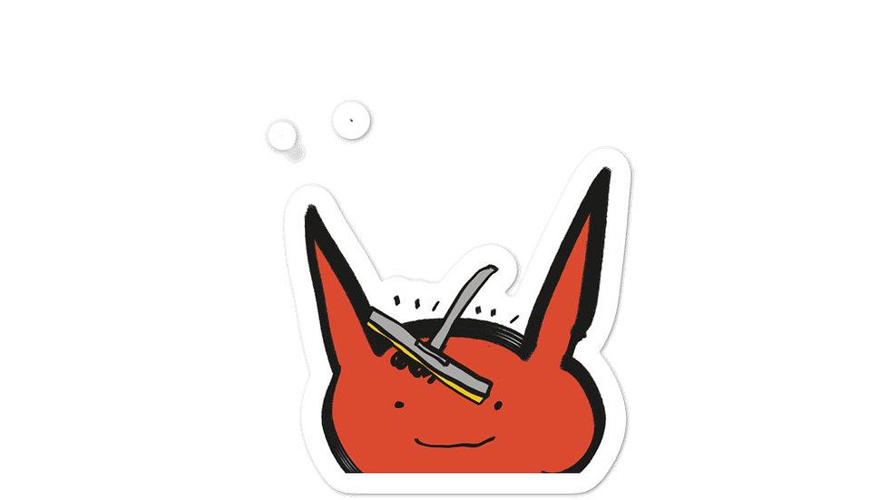 squeegee sticker