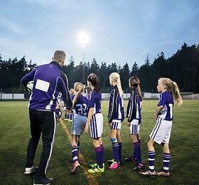 Girls Soccer Team in Practice