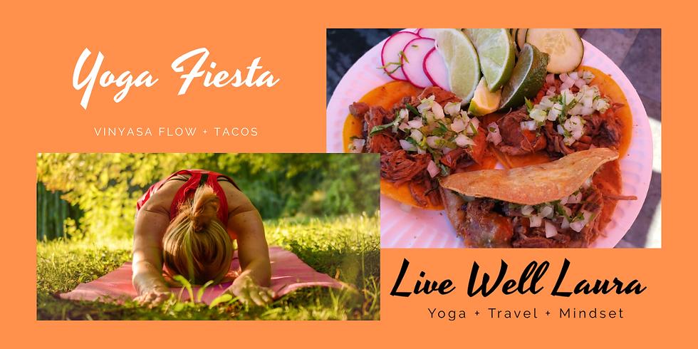 Yoga Fiesta: Saturday, July 11th 10:30AM-12:30PM