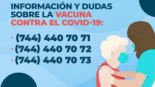 Call center Acapulco municipal brinda información sobre vacunas anti-COVID