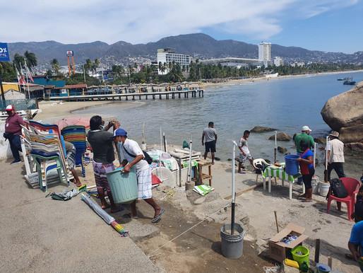 Apoya Gobierno de Acapulco operativo de Profepa en desalojo de marisqueros en zona federal